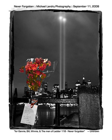 """Photo taken on 9/11/2008 from the Brooklyn Promenade.<br /> Cropped to fit an 8x10"""" print. <br /> <br /> You can purchase a copy by clicking the """"Buy"""" button at upper right."""