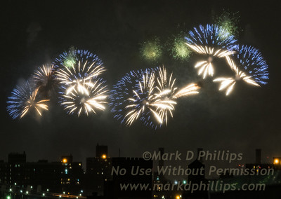Macy's Fourth of July Fireworks look like Jellyfish swimming above the city.