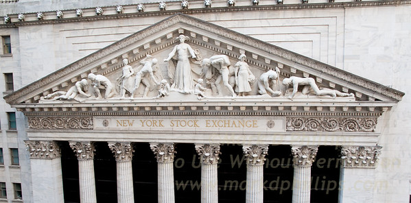 New York Stock Exchange building in lower Manhattan on Wall Street