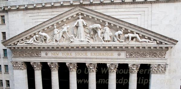 New York Stock Exchange building in lower Manhattan on Wall Street