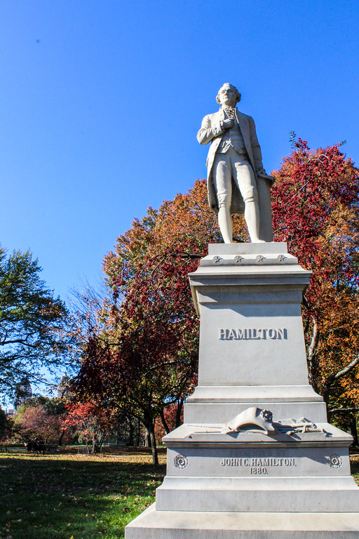 alexander hamilton is another one of central park's attractions