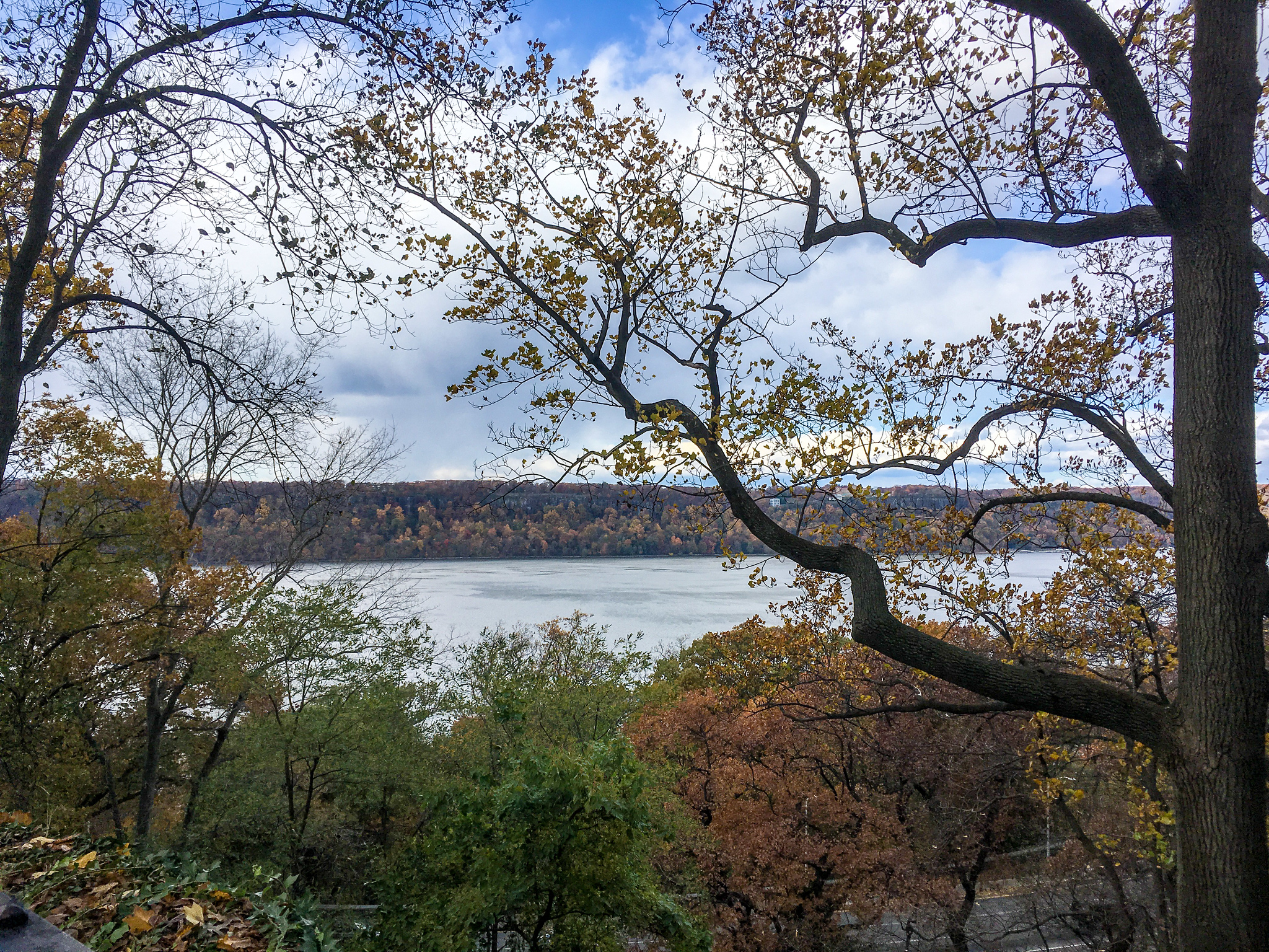 what to wear in nyc in november: make sure you're warm because fort tyron park gets chilly in fall