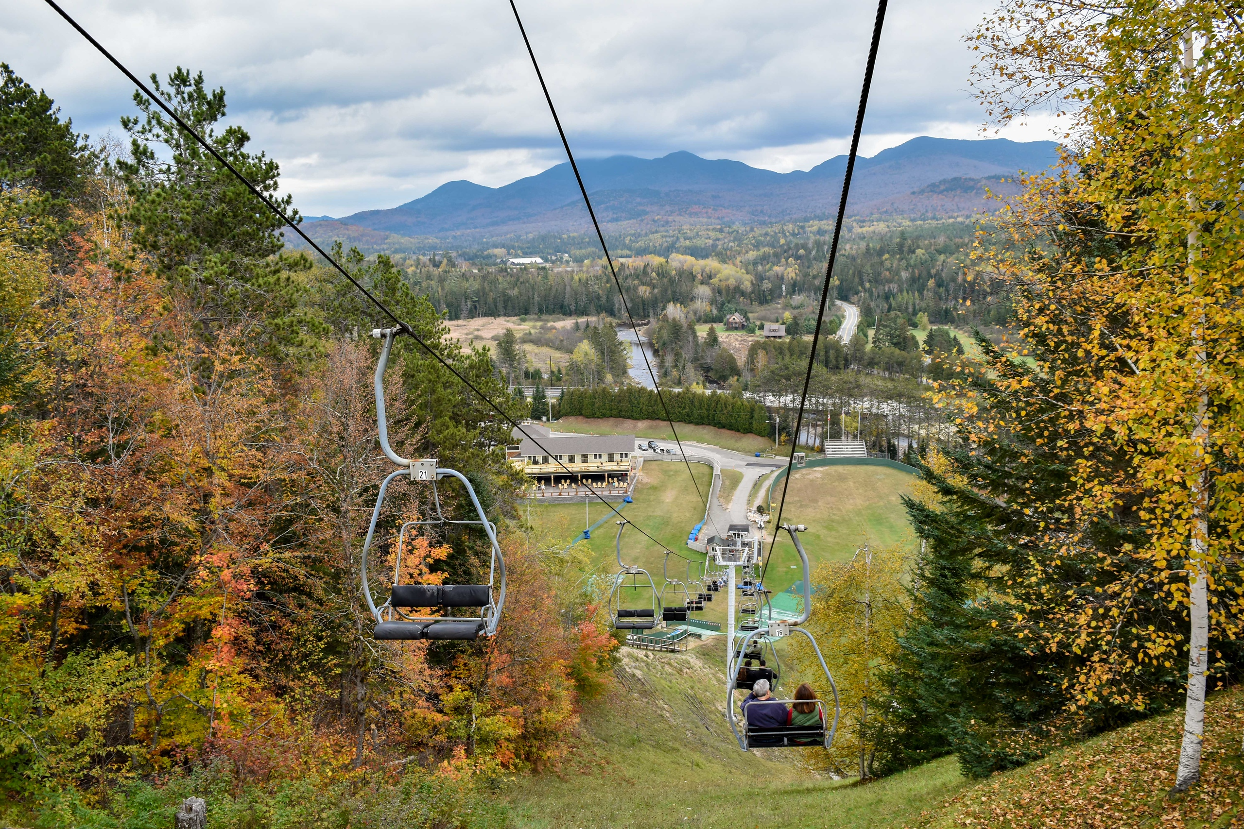 see lake placid on a day trip from nyc in fall