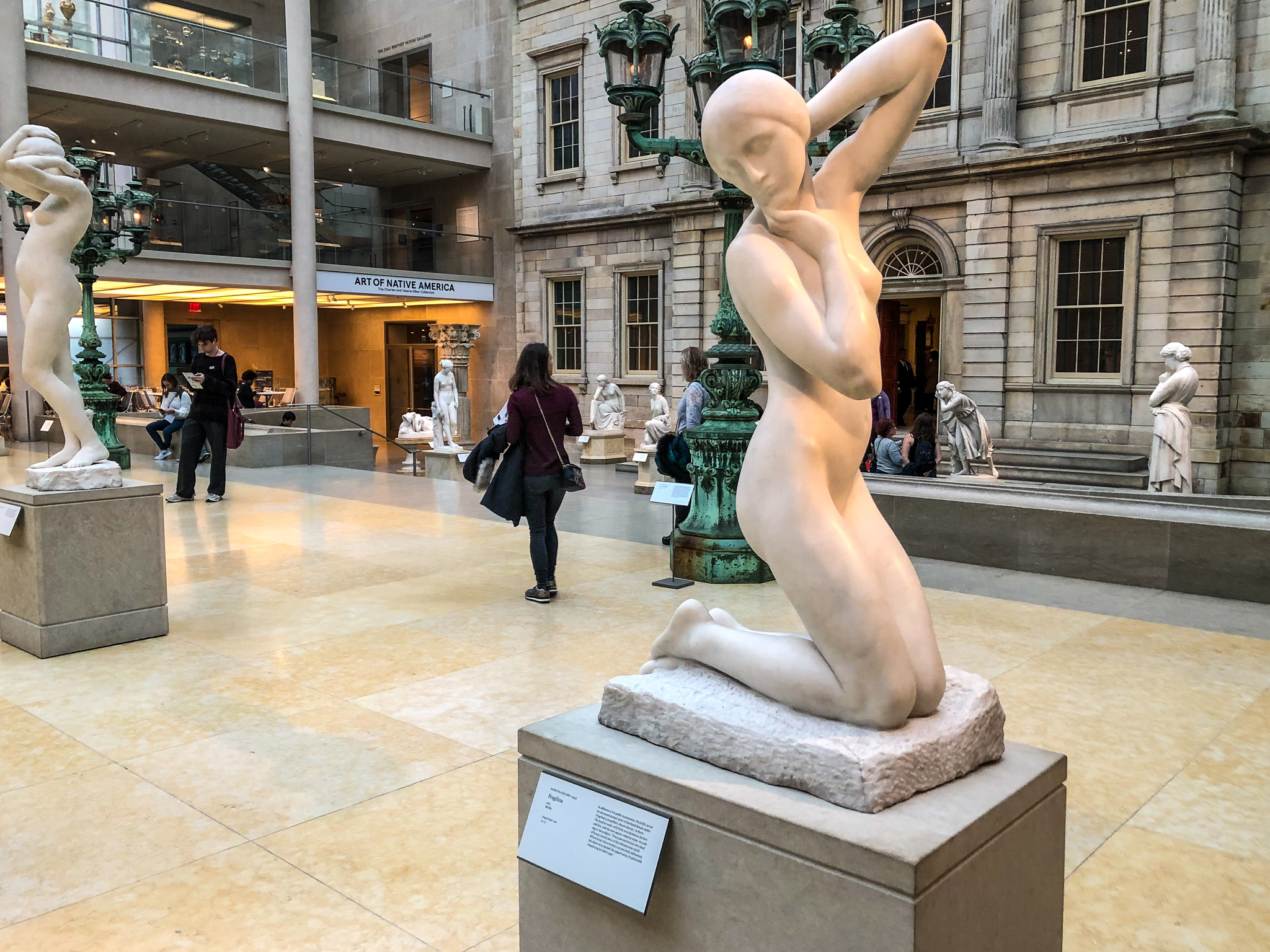 visiting the metropolitan museum of art means lots of statues