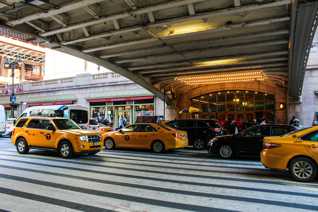taxis are one type of transportation from newark airport to nyc