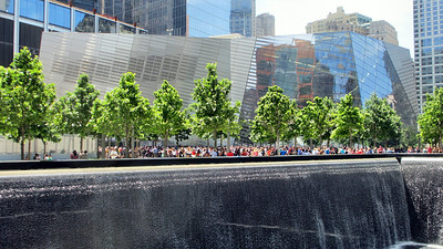 The 9/11 Museum and Memorial Site for the September 11, 2001, attacks on the twin towers of the World Trade Center.