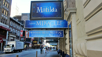 Attended three Broadway shows including Matilda, Pippin, and Newsies