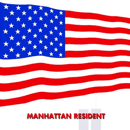 America flag drawn by me 9-13-2001