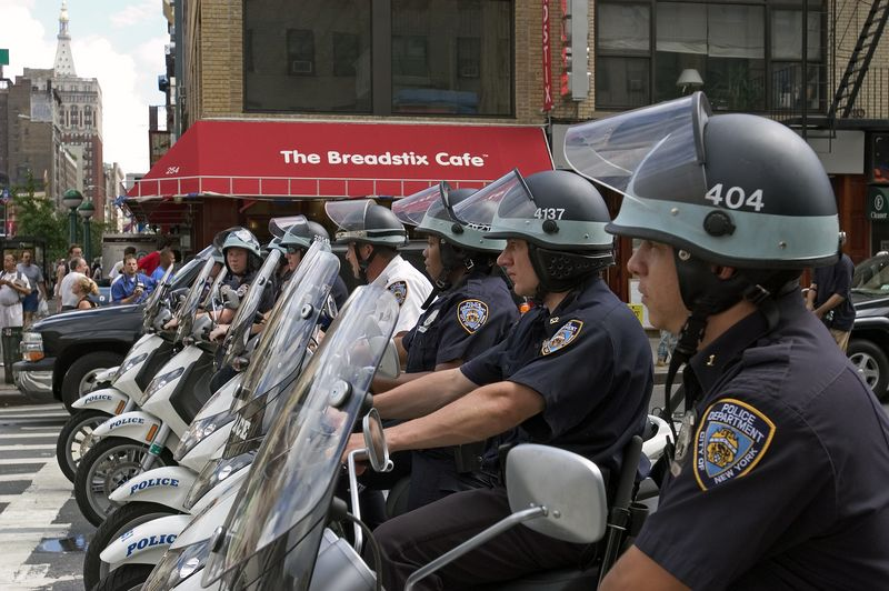 NYC Police on Motor Scooters RNC 2004