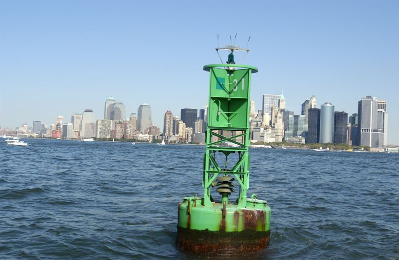 Buoy and Lower Manhattan