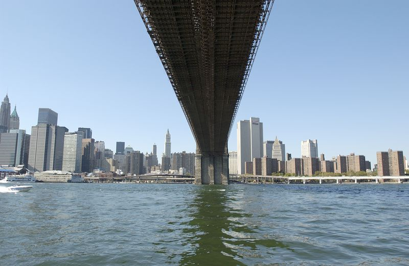 Brooklyn Bridge under