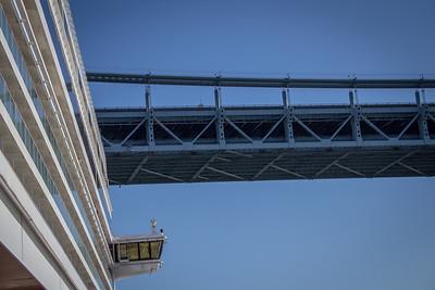 Sailing under the Verrazano Bridge