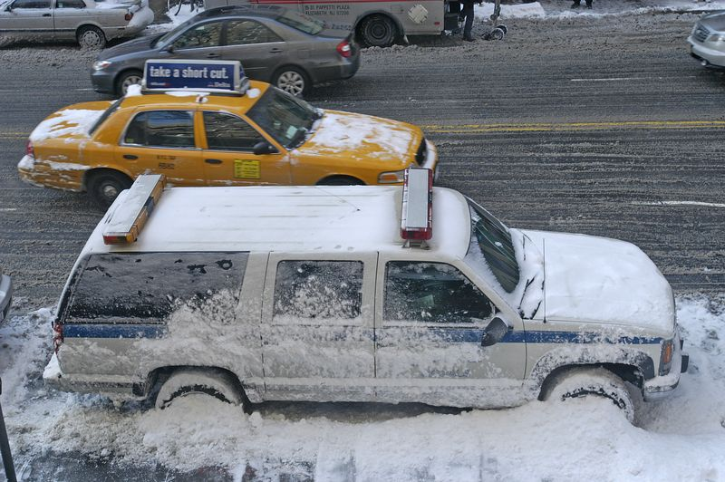 14th Street and 7th Ave NYC Winter