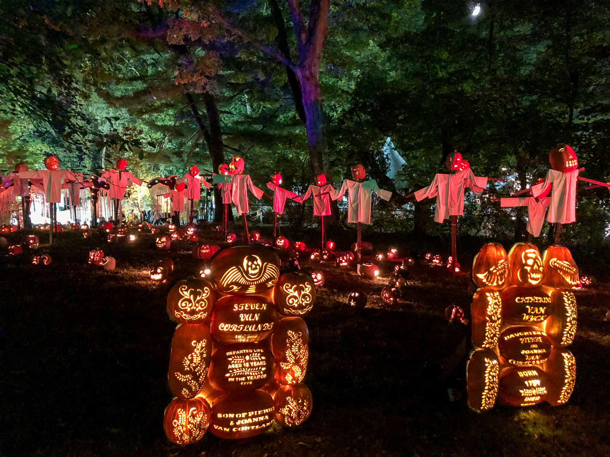 things to do in sleepy hollow include many pumpkins
