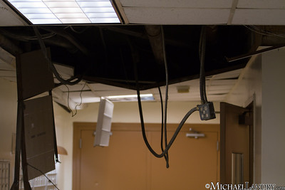 The lobby of my building - ceiling ripped down  Park Slope, Brooklyn Tornado 9/16/10 - (c) Michael Landry.com