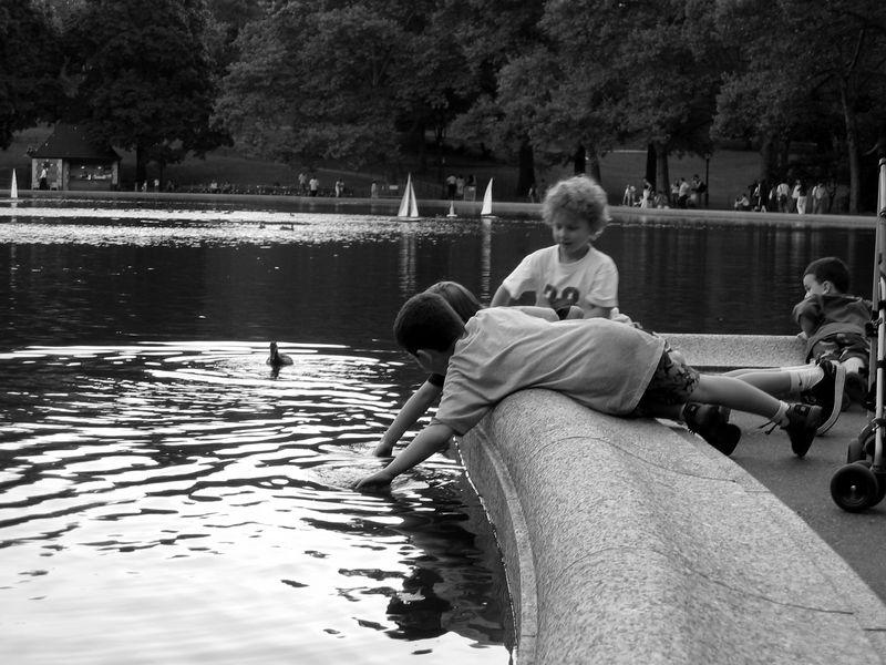 Kids boat basin