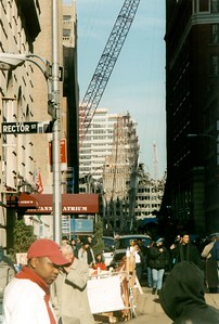 Rector street - large WTC fragment