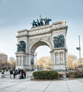 The Soldiers' and Sailors' Arch at the south end of the traffic oval in Grand Army Plaza, Brooklyn, NY. Photo by Brandon Vick Photography LLC, http://www.brandonvickphotography.com/