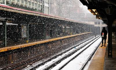 Snow At Prospect Park Station