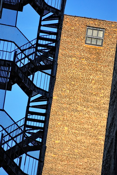 Building and fire escape, West Side of Manhattan