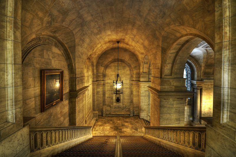 Staircase Of New York City Public Library.