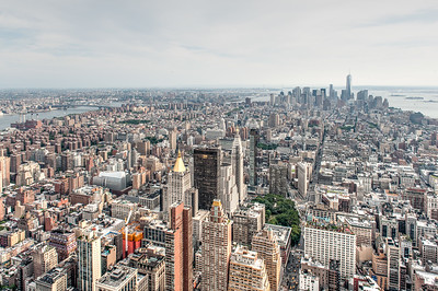 View of the New York City skyline from the observation deck of the Empire State Building. Photo by Brandon Vick, http://brandonvickphotography.com/