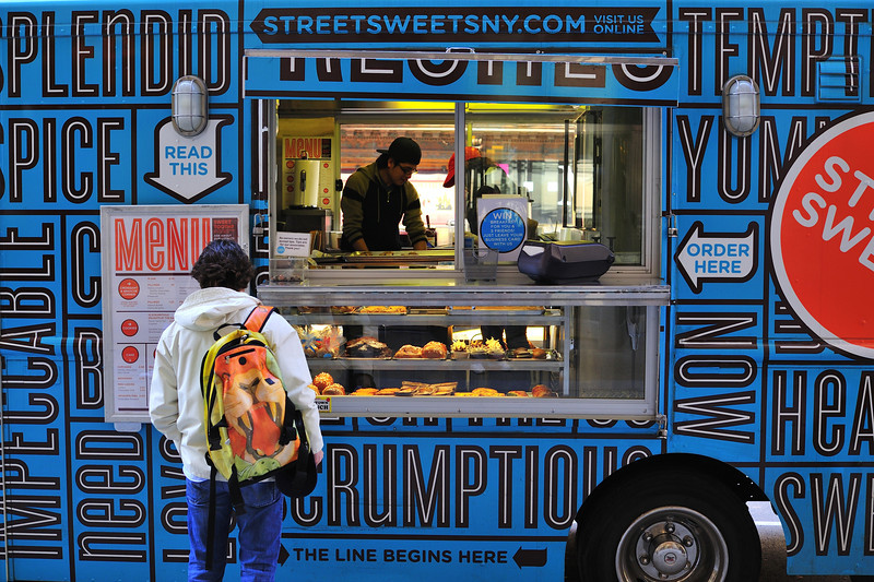 Food Truck on Fifth Avenue, NYC