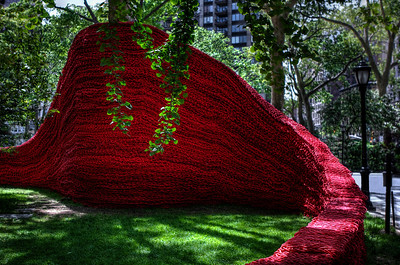 Madison Square Park Art by Orly Genger