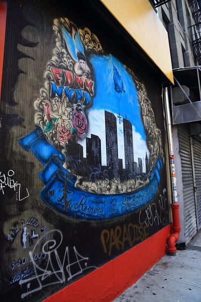 Twin Towers Graffiti