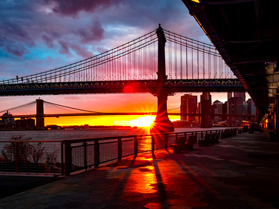 Manhattan & Brooklyn Bridge Sunset