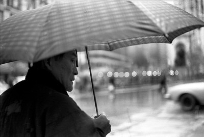 Man with Umbrella at Midtown, NYC. 1991