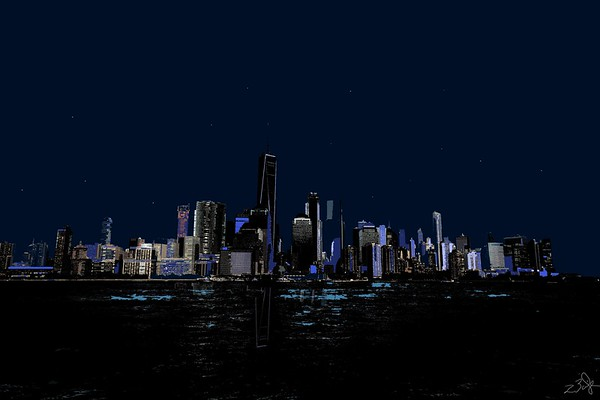 New York Night Print