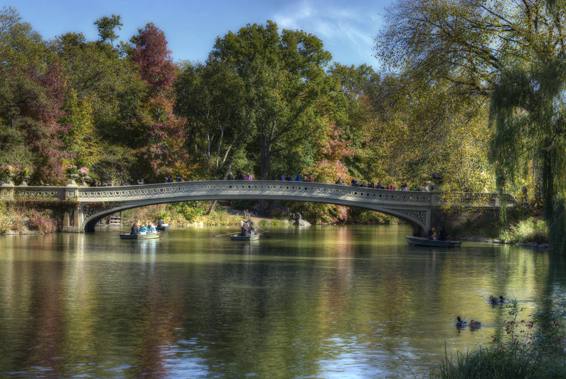 Bow Bridge in the Fall, Central Park, New York City