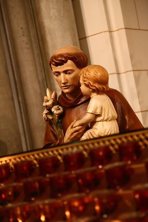 Statue of Man and Child at Saint Patricks
