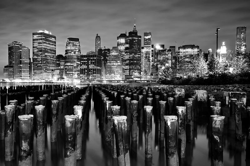 Manhattan Financial District at Night.
