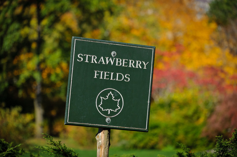 Strawberry Fields sign in Central Park, New York City