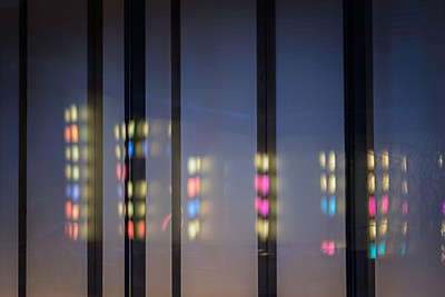city lights in abstract nyc01