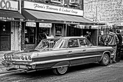 classic car, classic street scene, Little Italy, New York City