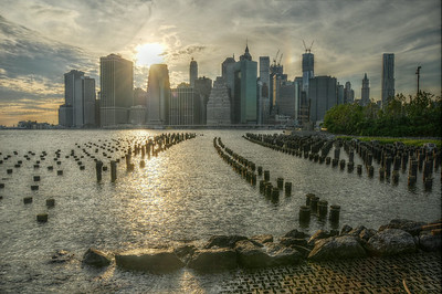 Lower Manhattan From Brooklyn Bridge Park