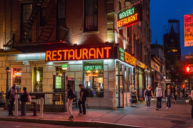 Waverly Diner on Sixth Avenue and Waverly Place in Greenwich Village, New York City