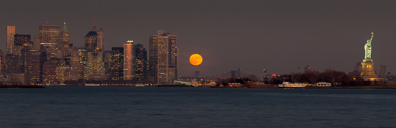 Full Moon and the NYC Skyline