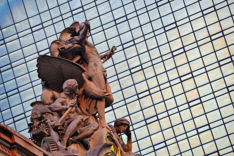 Hercules, Minerva and Mercury, statuary by Jules-Félix Coutan, atop Grand Central Terminal