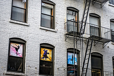 dancers in the windows