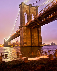 Brooklyn Bridge, New York, New York, USA