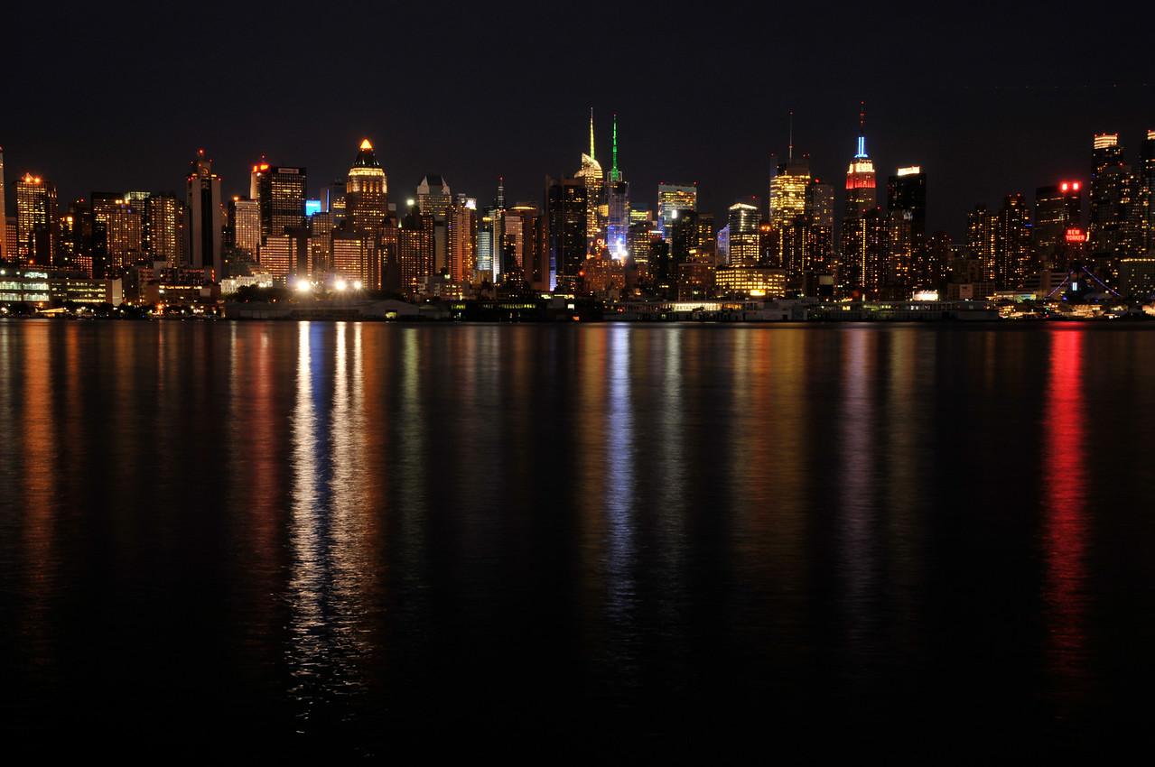 Manhattan Night Skyline