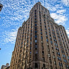 looking up on a beautiful day in New York City - full color version