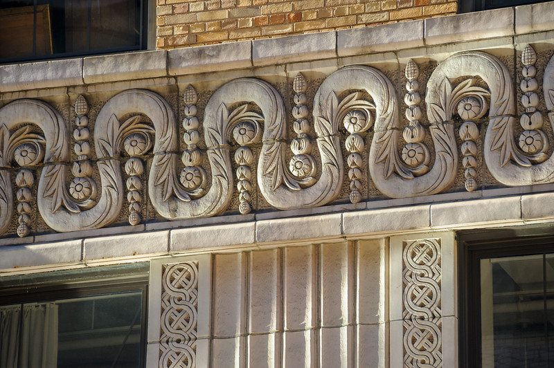 Detail on building in New York City
