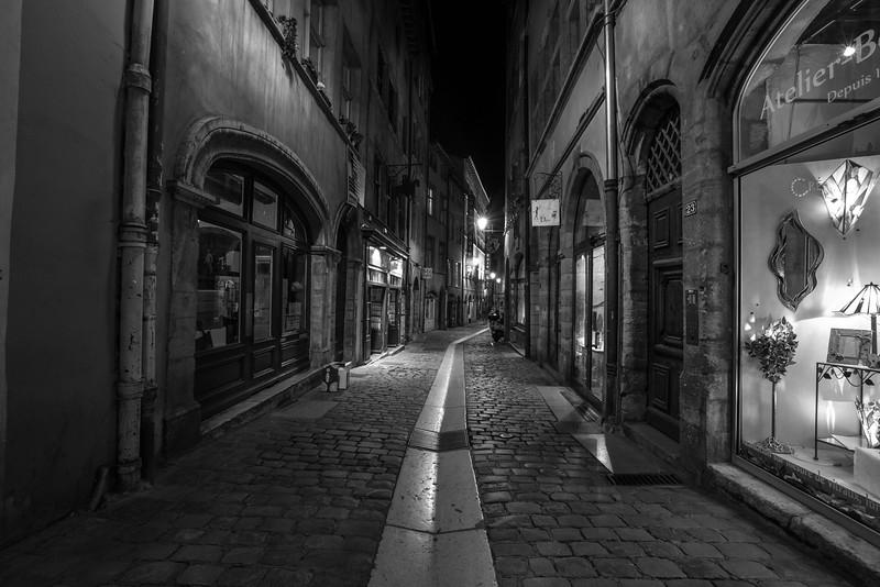 Rue du Boeuf.  Lyon, France