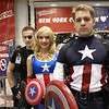 Nick Fury and Captain Americas