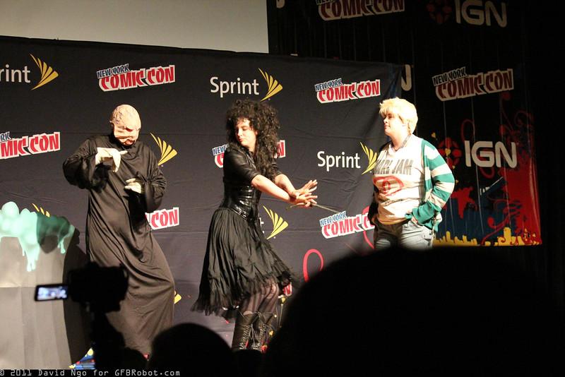Voldemort, Bellatrix Lestrange, and Draco Malfoy